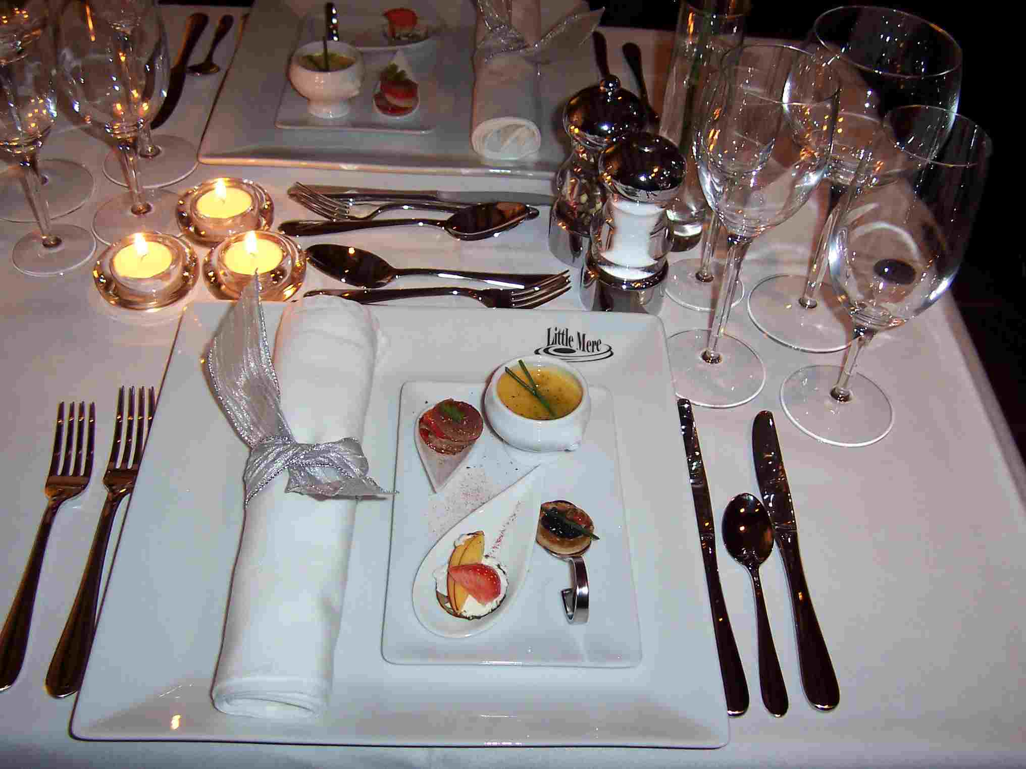 Russian Ala-carte Table Setting : ... Restaurant set in the beautiful New Forest location of North Gorley